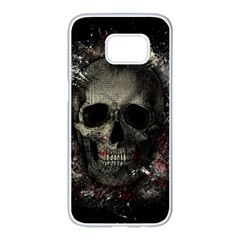 Skull Samsung Galaxy S7 Edge White Seamless Case