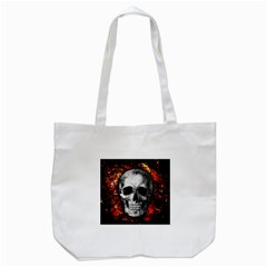 Skull Tote Bag (white) by Valentinaart