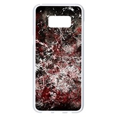 Grunge Pattern Samsung Galaxy S8 Plus White Seamless Case by Valentinaart