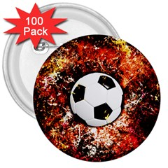 Football  3  Buttons (100 Pack)  by Valentinaart