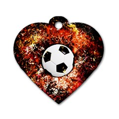 Football  Dog Tag Heart (one Side) by Valentinaart