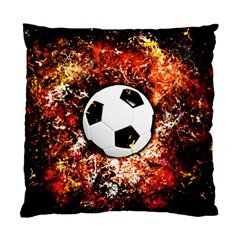Football  Standard Cushion Case (two Sides) by Valentinaart