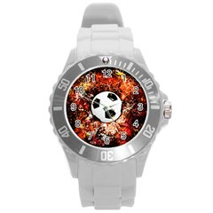 Football  Round Plastic Sport Watch (l)