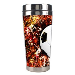 Football  Stainless Steel Travel Tumblers by Valentinaart