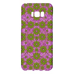 Paradise Flowers In Bohemic Floral Style Samsung Galaxy S8 Plus Hardshell Case  by pepitasart