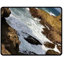 Jobo Beach Isabela Puerto Rico  Double Sided Fleece Blanket (medium)