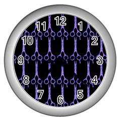 Purple Scissors Wall Clock (silver) by MySunshineDesigns