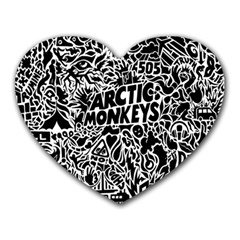 Arctic Monkeys Cool Heart Mousepads