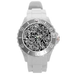 Arctic Monkeys Cool Round Plastic Sport Watch (l) by Samandel