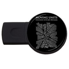 Moving Units Collision With Joy Division Usb Flash Drive Round (4 Gb)