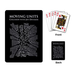 Moving Units Collision With Joy Division Playing Card by Samandel