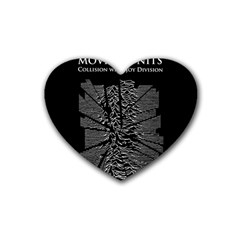 Moving Units Collision With Joy Division Heart Coaster (4 Pack)