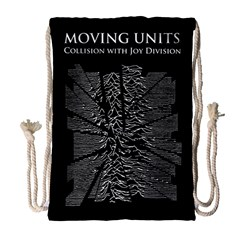 Moving Units Collision With Joy Division Drawstring Bag (large) by Samandel