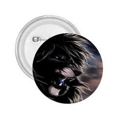 Angry Male Lion Digital Art 2 25  Buttons by Samandel