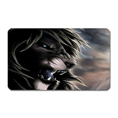 Angry Male Lion Digital Art Magnet (rectangular)