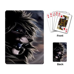Angry Male Lion Digital Art Playing Card by Samandel