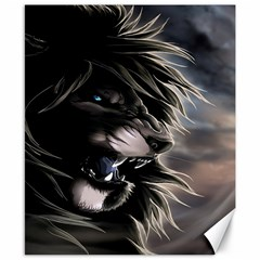 Angry Male Lion Digital Art Canvas 8  X 10