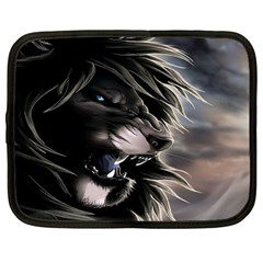 Angry Male Lion Digital Art Netbook Case (large)