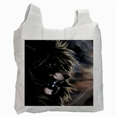 Angry Male Lion Digital Art Recycle Bag (one Side) by Samandel