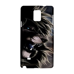 Angry Male Lion Digital Art Samsung Galaxy Note 4 Hardshell Case by Samandel