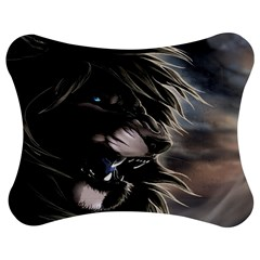 Angry Male Lion Digital Art Jigsaw Puzzle Photo Stand (bow) by Samandel