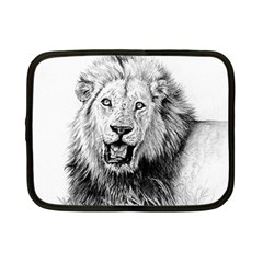 Lion Wildlife Art And Illustration Pencil Netbook Case (small)  by Samandel