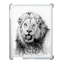 Lion Wildlife Art And Illustration Pencil Apple Ipad 3/4 Case (white)