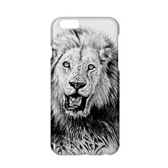 Lion Wildlife Art And Illustration Pencil Apple Iphone 6/6s Hardshell Case by Samandel
