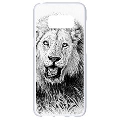 Lion Wildlife Art And Illustration Pencil Samsung Galaxy S8 White Seamless Case
