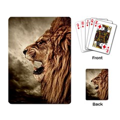 Roaring Lion Playing Card by Samandel