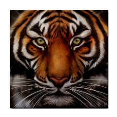 The Tiger Face Tile Coasters