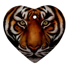 The Tiger Face Ornament (heart)