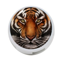 The Tiger Face 4 Port Usb Hub (two Sides)