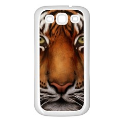 The Tiger Face Samsung Galaxy S3 Back Case (white)