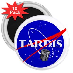 Tardis Nasa Parody 3  Magnets (10 Pack)
