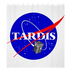 Tardis Nasa Parody Shower Curtain 66  X 72  (large)  by Samandel