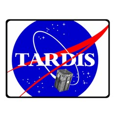 Tardis Nasa Parody Fleece Blanket (small) by Samandel