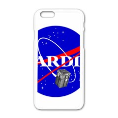 Tardis Nasa Parody Apple Iphone 6/6s White Enamel Case by Samandel