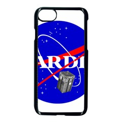 Tardis Nasa Parody Apple Iphone 7 Seamless Case (black) by Samandel