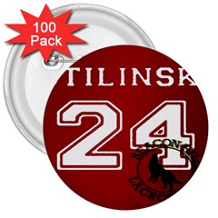 Stilinski Teen Wolf Beacon Hills Lacrosse 3  Buttons (100 Pack)  by Samandel