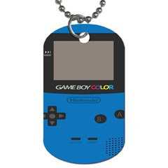 Game Boy Colour Blue Dog Tag (one Side)
