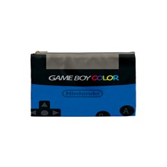 Game Boy Colour Blue Cosmetic Bag (small)  by Samandel
