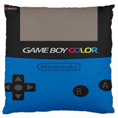 Game Boy Colour Blue Large Cushion Case (two Sides) by Samandel