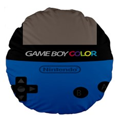 Game Boy Colour Blue Large 18  Premium Round Cushions
