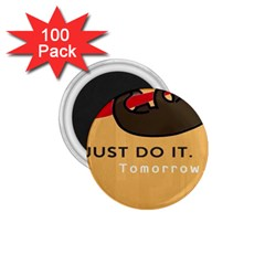 Sloth Just Do It Tomorrow 1 75  Magnets (100 Pack)  by Samandel