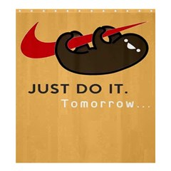 Sloth Just Do It Tomorrow Shower Curtain 66  X 72  (large)  by Samandel