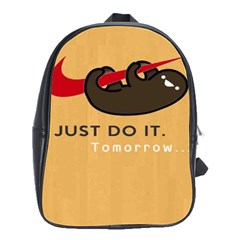 Sloth Just Do It Tomorrow School Bag (large)