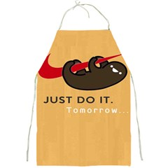 Sloth Just Do It Tomorrow Full Print Aprons