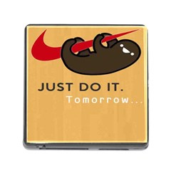 Sloth Just Do It Tomorrow Memory Card Reader (square) by Samandel