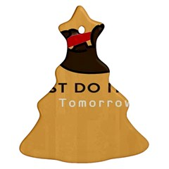 Sloth Just Do It Tomorrow Ornament (christmas Tree)